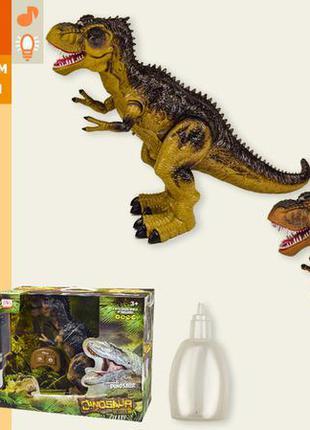 Динозавр на радиоуправлении ws5332, аккум, звук, свет, ходит, холодный пар