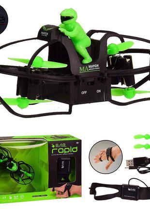 Квадрокоптер lh-x49(24шт|2) управление рукой,свет,в кор. 25*7*14,5 см, р-р игрушки – 12.5*5*6 см