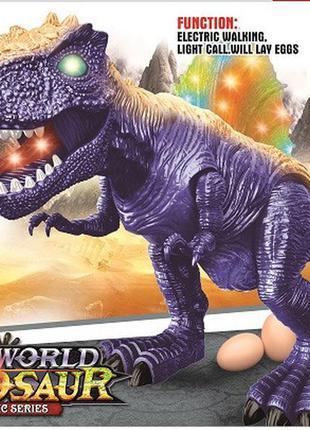 Интерактивное животное 846b (24шт|2) динозавр, свет, звук, ходит,проектор,несет яйца,стреляет, в кор
