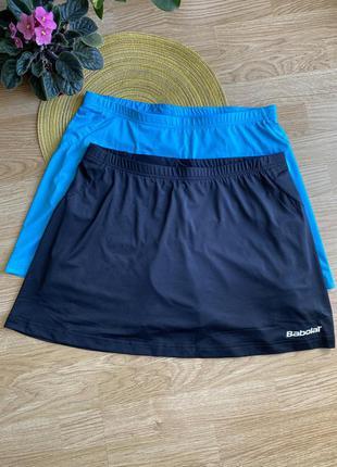 Спортивная юбка-шорты, тенісна спідниця-шорти babolat, xl розмір.
