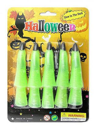 Аксессуар для костюма на хэллоуин пальцы ведьмы светонакопительные +подарок
