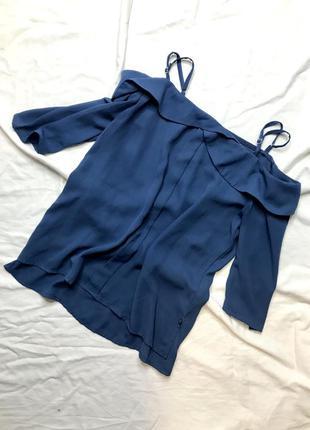 Синяя блуза блузка нарядная