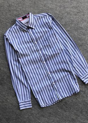 Оригінальна сорочка в клітинку paul shark yachting classic shirt blue