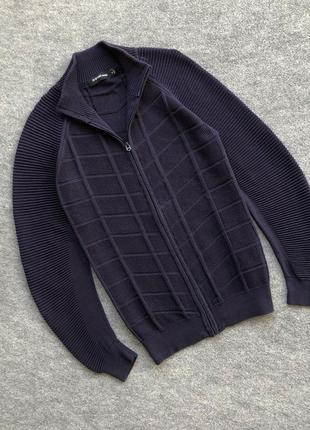 Светр на замок зі свіжих колекцій g-star raw knit full zip sweater navy