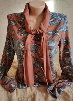 Блузка кофта рубашка лонгслив бант огурчики stanfield