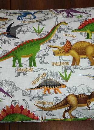 Наволочки из пакистанской бязи gold - динозавры, все размеры