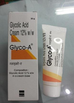 Крем с гликолевой кислотой 12 % ( glycolid acid cream 12% ). потрясающий эффект .