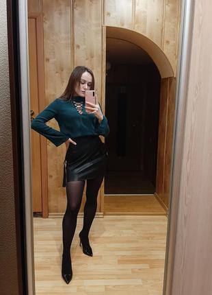 Изумрудная блуза