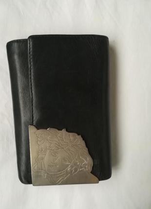 Кожаный кошелек versace