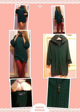 Кофта-платье.cecil.38 size.зеленого цвета.