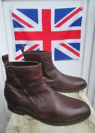 """Кожаные ботинки  """" clarks """"   42 р. (  28.5 см )  индия."""