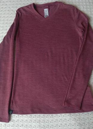 Термореглан з мериносової шерсті термо футболка лонгслив термобілизна термобелье шерсть мериноса реглан шерстяной