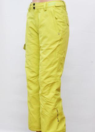Спортивные штаны лимонного цвета (лыжные брюки)