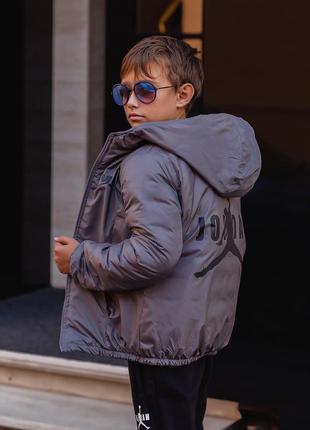 Двухсторонняя демисезонная курточка