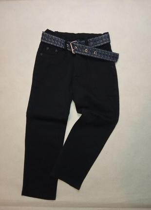 Классические джинсы на флисе с поясом