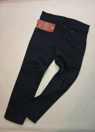 Теплые штаны джинсы на флисе скинни