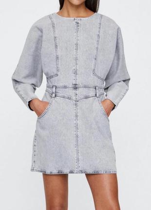 Джинсовое платье зара