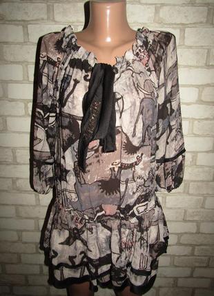 Милая блузочка туника р-р л-14 louis