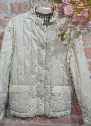 Винтажная стильная стеганая куртка-жилетка.