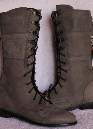 Сапоги-ботинки кожа-нубук noa 39 р.