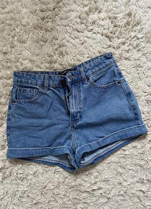 Шорти джинсові bershka
