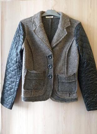Шерстяной жакет пиджак куртка войлочный armadio italy