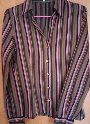Полосатая рубашка с длинным рукавом