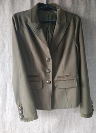 Jsfn. жакет пиджак с отделкой из бархата.