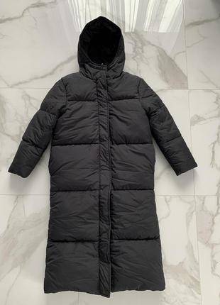 Трендовая зимняя куртка длинный пуховик threadbare (zara, mango, asos)