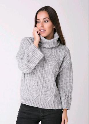 Классный вязаный свитер косы  от sewel оверсайз