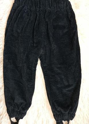Вельветові утеплені штани