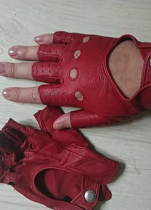 Кожаные митенки автомобильные перчатки dents