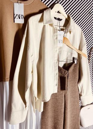 Крутая рубашка 👔 оверсайз от zara