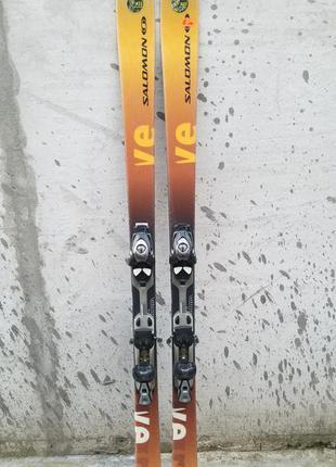 #6 лыжи , лижі salomon 170см, недорогі