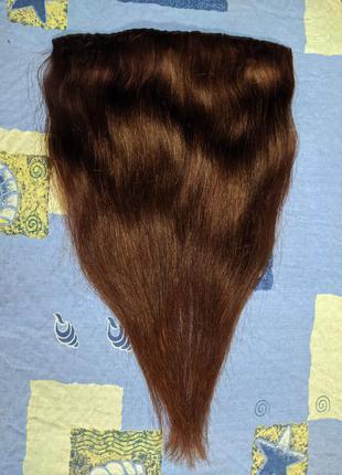 Натуральные волосы на трессах на заколках