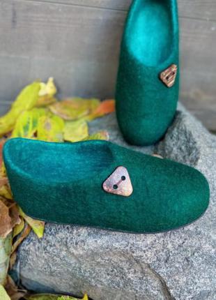 Войлочные тапочки. handmade.