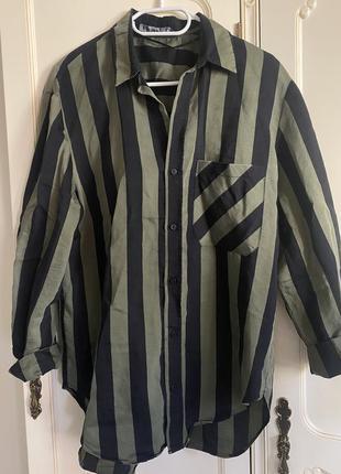 Блуза блузка рубашка в полоску zara