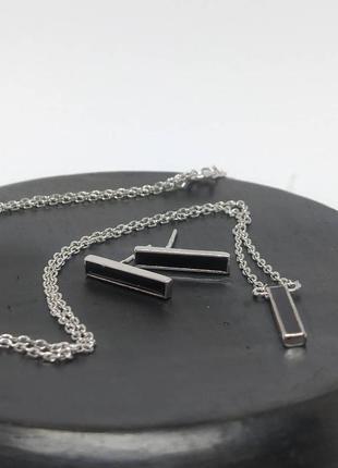 Срібний родований набір 925 проба (серебро ,срібло )