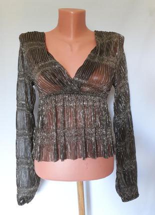 Стильная блуза fashion nova(размер 34-36)
