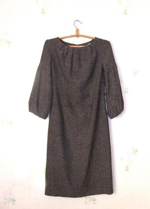 Элегантное шерстяное  платье миди