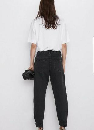 Zara чёрные джинсы бананы
