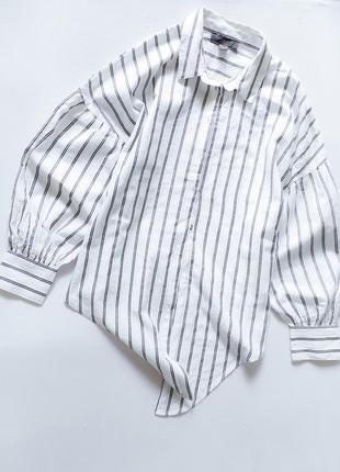 Очень стильная свободная рубашка с рукавом фонариком