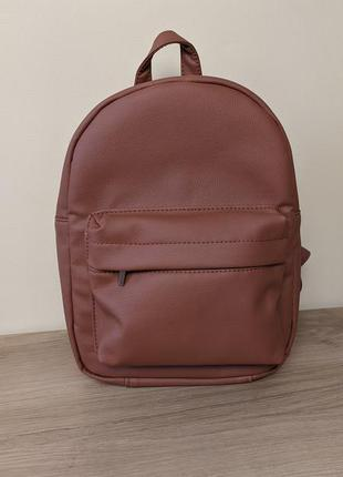 Рюкзак коричневий жіночий женский коричневый терракот