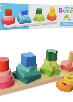 Деревянная игрушка геометрика  цена 💵 120 грн