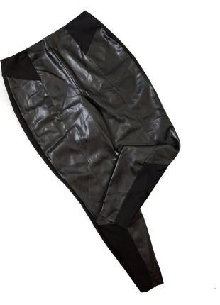 Нові лосіни розмір 14(л) суперської якості , плотні ( перід еко шкіра зад тканина плотна стрейчова ) широка резинка  в живу виглядають вау 👍
