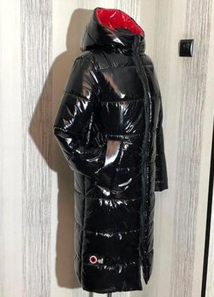 Шикарный зимний пуховик,пальто,блестит,размер с.