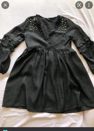 Короткое платье оверсайз от zara