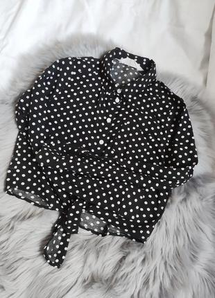 Сорочка, рубашка, горошок, горох, чорна, черная
