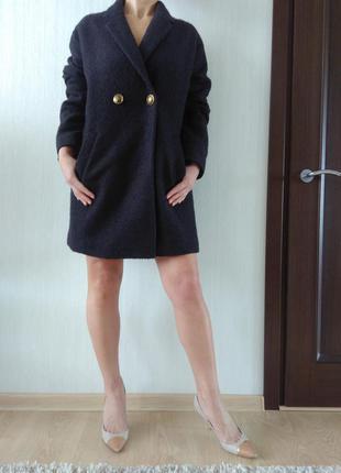 30% от цены!! очень классное стильное шерстяное пальто oversize бойфренд р40