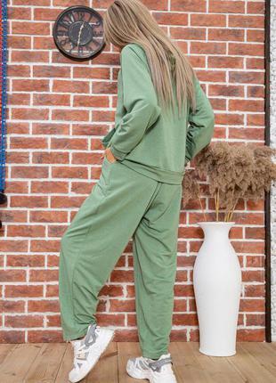 Новинка!!! костюм худи спортивные 4 цвета демми. оливкового цвета  48-50 и 52-54